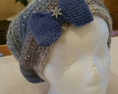 Crocheted Slouchy hat with Sequins