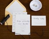 Illustrated Leaf Wedding Invitation Suite