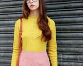 Billie Daisy Print Corduroy Mini Skirt