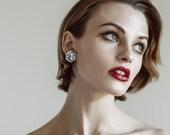 Hexie Studs - Silver Lush Glitter - Each To Own - Geometric Stud Earrings