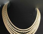 Vintage Monet Necklace Multiple Chain 1950s