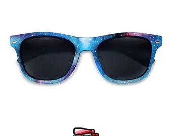 Unique birthday gift for her Galaxy festival Wayfarer custom personalized sunglasses gift for girlfriend men women trend Space Nebula lenses