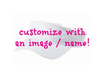 Personalized WHITE Kids Visor -- can be monogrammed or designed with a theme -- perfect Birthday Party Favors, Camp, or Sports!