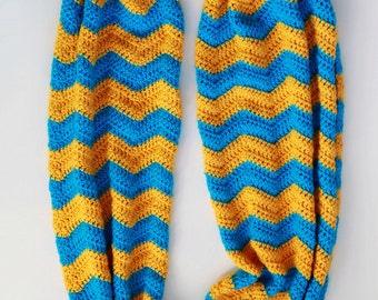 Crochet Pattern - Crochet Chevron Infinity Scarf (Pattern No. 071) - INSTANT DIGITAL DOWNLOAD