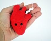 Anatomically correct heart keychain organ keyring