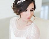 Bridal Headband, Bridal Crystal Headband, Wedding Headband, Art Deco Headband, Silver Crystal Bridal Headband, Crystal Headpiece