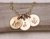 Custom Gold Initial Necklace Personalized necklace Mother's Initial Necklace GOLD Personalized Necklace Mothers Necklace Womens Jewelry Gift