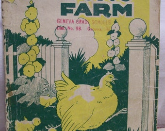 At Don's Farm 1940 Guidance In Reading Book Primary Reader Vintage