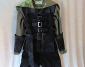 Child's Steampunk, Robin Hood, Forest Elf, Woodsman/Woods Lass: Vest, Shirt, Pants, Belt, Arm Guards - Size 5 - 12 years, Made To Order Only