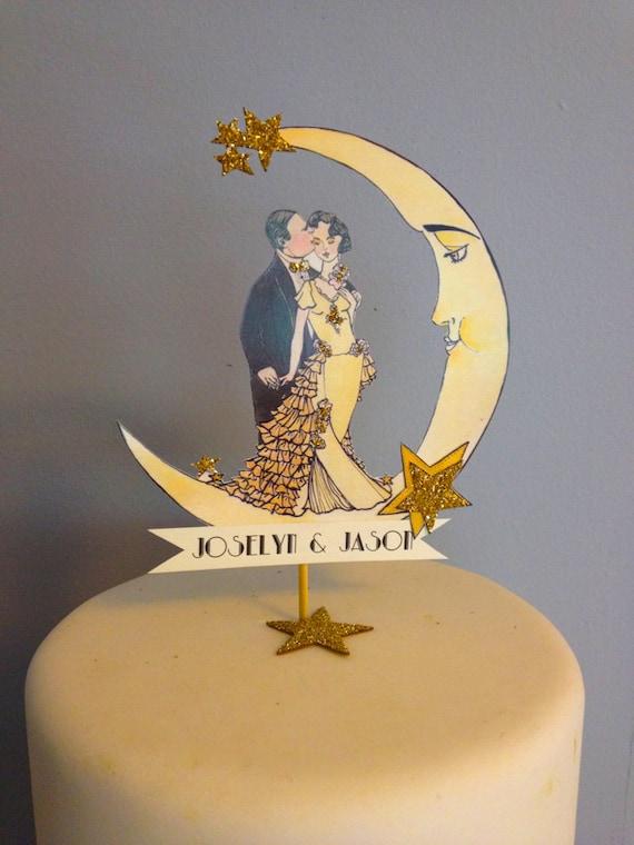 Art Deco Wedding Cake Topper Great Gatsby by ...