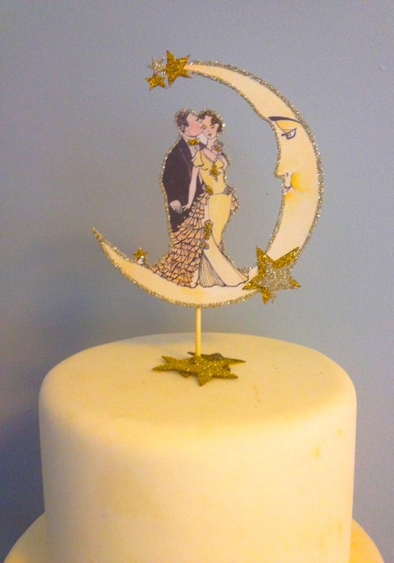 gatsby wedding cake toppers wedding cake topper deco great gatsby custom hair 14655