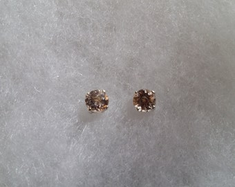 Morganite Earrings - 5mm genuine Morganite stud earrings in Sterling Silver or Gold