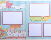 Blooming Happiness Premade 2 Page 12x12 Scrapbook Layout