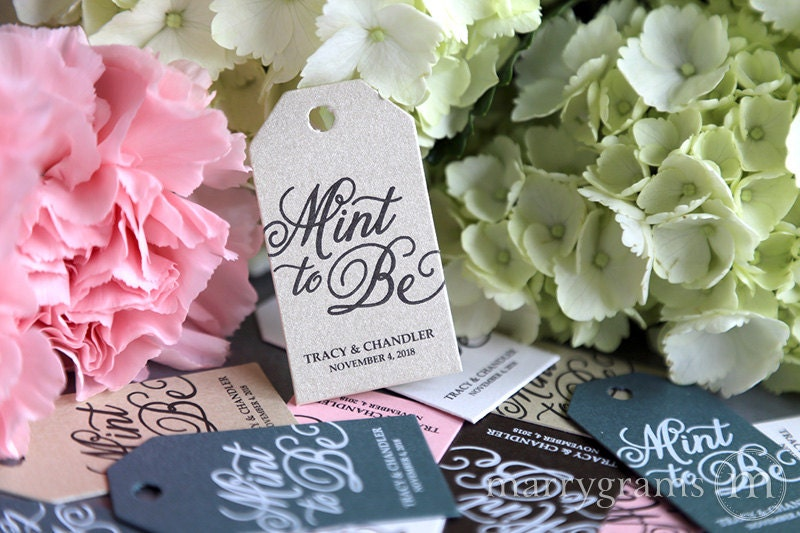 Minted Wedding Gift Tags : Wedding Favor Tags Mint to Be Custom Personalized Names &