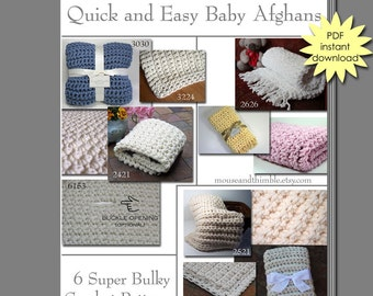 Easy & Quick Bulky Baby Blanket Crochet PATTERNS Tutorial eBOOK 6