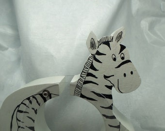 Moving Sale - Zebra wooden coin Bank