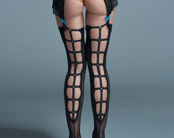 Stay Up Black Thigh Highs - Lingerie Thigh Hights - Exclusive Accessory