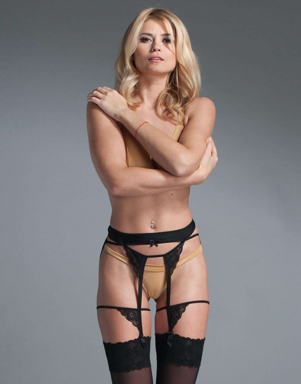 Girl in garter belt