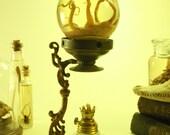 Wet Specimen Octopus In Glass Sphere On Antique Medicinal Vaporizer