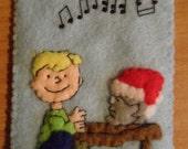 Peanuts Ornament Felt Christmas Schroeder at Piano