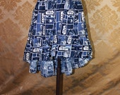 "High Low Mini Cecilia Skirt -- Star Wars Blues/White -- Ready to Ship -- Fits Up To 38"" Waist"