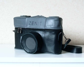 Vintage Zenit Camera Leather Bag