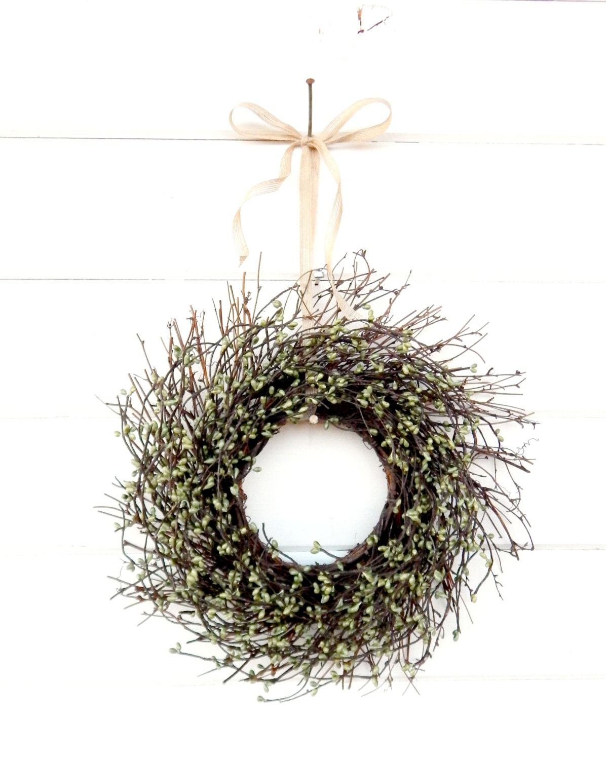 Twig Wall Decor mini twig wreath-green mini window wreath-wall decor-fall