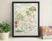 Stoke Newington (N16) 33 x 48 cm illustrated map print