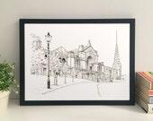 Alexandra Palace, London giclee print