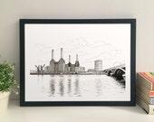 Battersea Power Station giclee print