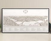 Panorama of London giclee print