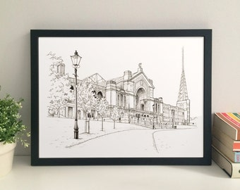 Alexandra Palace, London giclee print