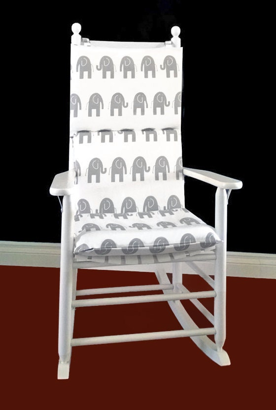 Rocking Chair Cushion Cover White Grey By RockinCushions On Etsy