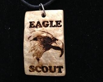 Necklace - Eagle Scout Coconut Pendant Necklace