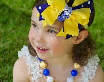 Dory Birthday Bow  - Finding Nemo Party - Dory Hair Bow