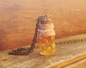 Bottle Charm Necklace- Lemonade