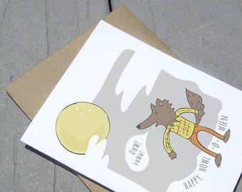Happy Halloween Werewolf Card