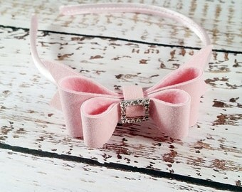 Pale Pink Glitter Bow,Light Pink Headband,Light Pink Hair Bow,Oversize Glitter Hair Bow,Girls Toddlers Women,Valentines Headband,Hair Clip