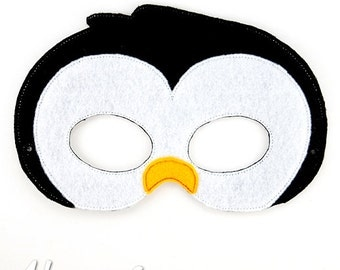 Penguin mask etsy