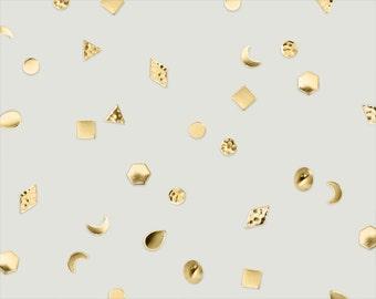 """geometric brass single stud post earring // """"TRIER"""""""