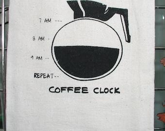 Coffee Clock T-Towel