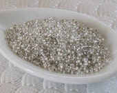 15/0 Seed Beads Silver Lined Clear 8 Grams Miyuki #1