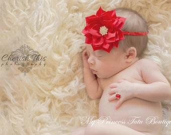 Ruby Red Heart Shaped Newborn Ring, Newborn Jewelry, Newborn Photo Prop, Newborn Props