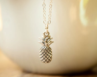 Pineapple Necklace in Sterling Silver