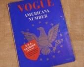 Vintage Vogue Magazine February 1941 Americana Number Womens Fashion Magazine, Vintage Advertising, WWII, America's Fashion Industry