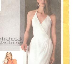 Jonathan Hitchcock halter wrap dress pattern -- Simplicity 9704