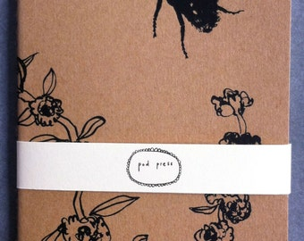 Small Moleskine notebook with bee print