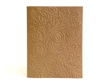 Embossed Fall Card - Autumn Card - Fall Hello Card - Any Occasion Card - Fall Thank You Cards - Blank Greeting Card - Fall Stationary