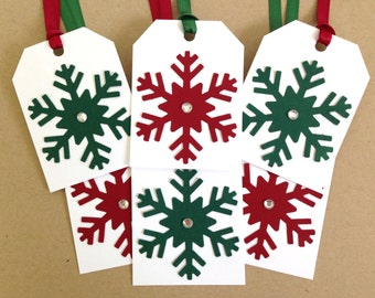 Christmas Gift Tags - Red and Green Tags - Holiday Gift Tags - Blank Christmas Gift Tag Set - Christmas Hang Tags - Christmas To From Tags