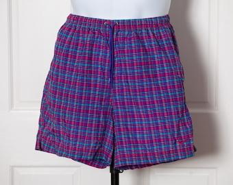 90s NIKE Shorts - nylon colorful drawstring - M